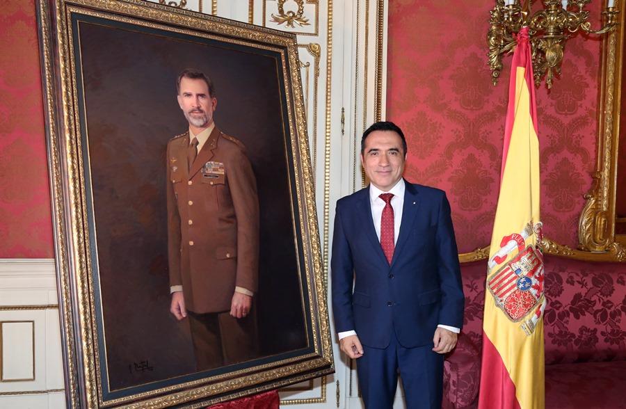 Actual Actual Presentación del retrato de Felipe VI por el pintor Antonio Montiel para el Ejército de Tierra
