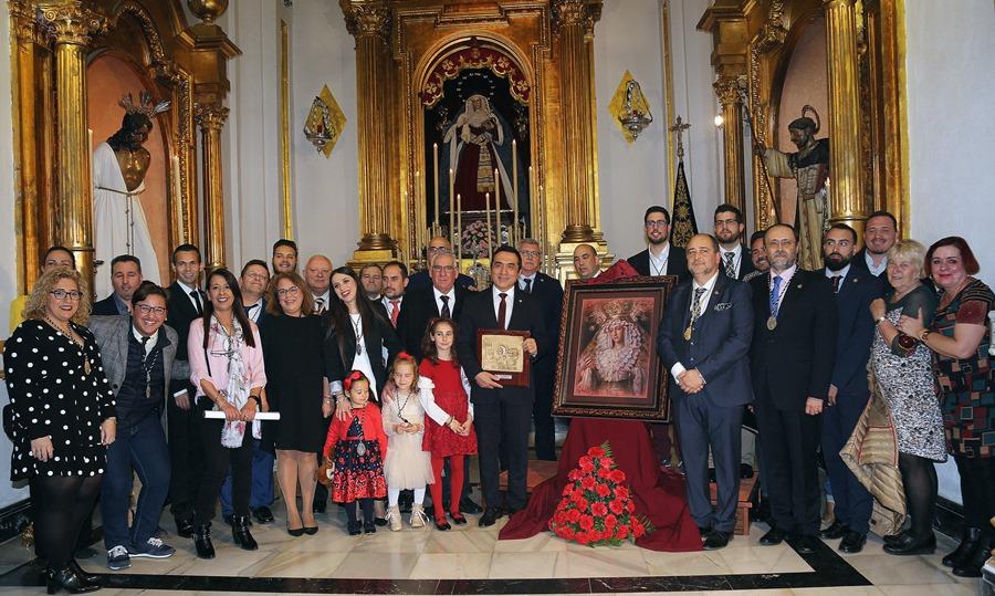 Actual Actual Antonio Montiel retrata a la Virgen de la Estrella como ilustración del Cartel Anunciador de la salida procesional de la Hermandad de Humillación y Estrella de 2020